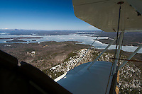 First flight of the season over Lake Winnipesaukee and the Lakes Region April 4, 2013.