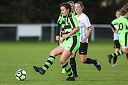 Forest Green Rovers Holly Timbrell(8) passes the ball during the South West Womens Premier League match between Forest Greeen Rovers Ladies and Marine Academy Plymouth LFC at Slimbridge FC, United Kingdom on 5 November 2017. Photo by Shane Healey.
