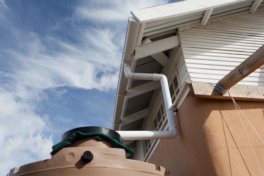 Residential rainwater harvesting detail