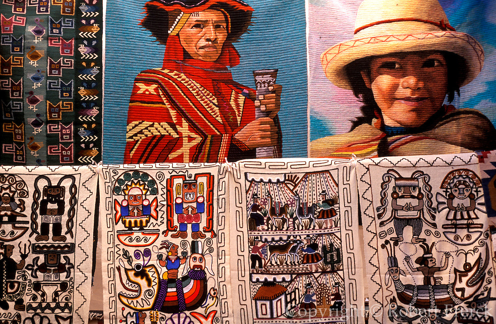 PERU, HIGHLANDS, MARKETS Pisac; famous rural craft market