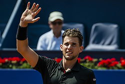 April 26, 2018 - Barcelona, Catalonia, Spain - DOMINIC THIEM (AUT) celebrates his victory against Jozef Kovalik (SVK) during Day 4 of the 'Barcelona Open Banc Sabadell' 2018. Thiem won 7:6, 6:2 (Credit Image: © Matthias Oesterle via ZUMA Wire)