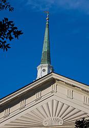 Church steeple with blue sky, Savannah, Georgia, United States of America.