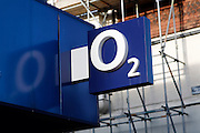 o2 shop sign, High street shops and shopping,  January 2009, Lowestoft, Suffolk, England