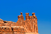 The Three Gossips, Arches National Park, UT, USA.