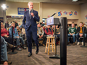 21 JANUARY 2020 - AMES, IOWA: Former US Vice President JOE BIDEN speaks during a campaign event at the Gateway Hotel and Conference Center in Ames, Tuesday. About 150 people came to listen to former Vice President Biden talk about his reasons for running for President. Iowa hosts the first event of the presidential election cycle. The Iowa Caucuses are Feb. 3, 2020.        PHOTO BY JACK KURTZ