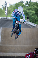 #157 (DEUMIE Valentin) FRA at Round 5 of the 2019 UCI BMX Supercross World Cup in Saint-Quentin-En-Yvelines, France