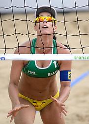 16-07-2014 NED: FIVB Grand Slam Beach Volleybal, Apeldoorn<br /> Poule fase groep G vrouwen - Agatha Bednarczuk (1) BRA