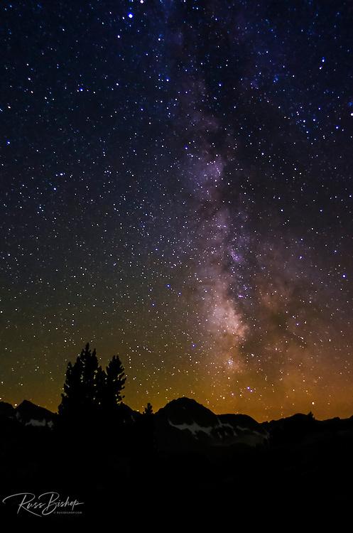 The Milky Way above Dusy Basin, Kings Canyon National Park, California USA
