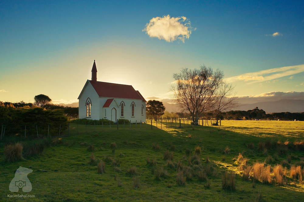 The beautifully preserved rural presbyterian Burnside church located near the village of Pirinoa (Wairarapa New Zealand) was built in 1875. It initially served a congregation of farm workers who had settled in the area after they had purchased land from the local Maori iwi (tribe).