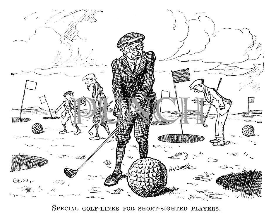 Special golf-links for short-sighted players.