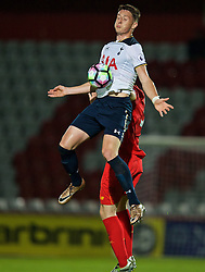 STEVENAGE, ENGLAND - Monday, September 19, 2016: Tottenham Hotspur's Ryan Loft in action against Liverpool during the FA Premier League 2 Under-23 match at Broadhall. (Pic by David Rawcliffe/Propaganda)
