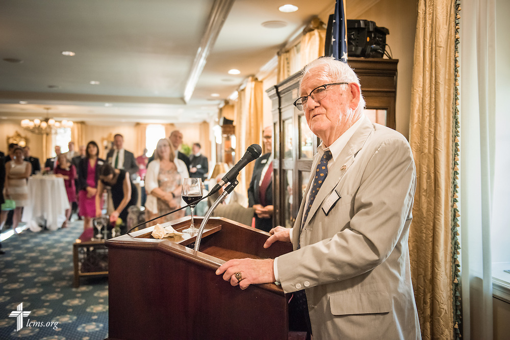 Washington veteran Bill Hecht of Hecht, Spencer and Associates, speaks to guests at a Let's Talk Life, Marriage and Religious Liberty event on Tuesday, September 8, 2015, a the Capitol Hill Club in Washington, D.C. LCMS Communications/Erik M. Lunsford