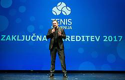 Rado Mulej during Slovenian Tennis personality of the year 2017 annual awards presented by Slovene Tennis Association Tenis Slovenija, on November 29, 2017 in Siti Teater, Ljubljana, Slovenia. Photo by Vid Ponikvar / Sportida