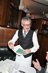 GRIFF RHYS-JONES at One Night Only at The Ivy held at The Ivy, 1-5 West Street, London on 2nd December 2012.