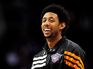 Feb. 22, 2012; Phoenix, AZ, USA; Phoenix Suns forward Josh Childress (1) reacts on the court against the Golden State Warriors at the US Airways Center. The Warriors defeated the Suns 106 - 104. Mandatory Credit: Jennifer Stewart-US PRESSWIRE.