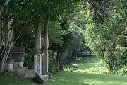 The West Verandah - a view to the South.<br /> <br /> LUNUGANGA. Geoffrey Bawa's country house and garden.