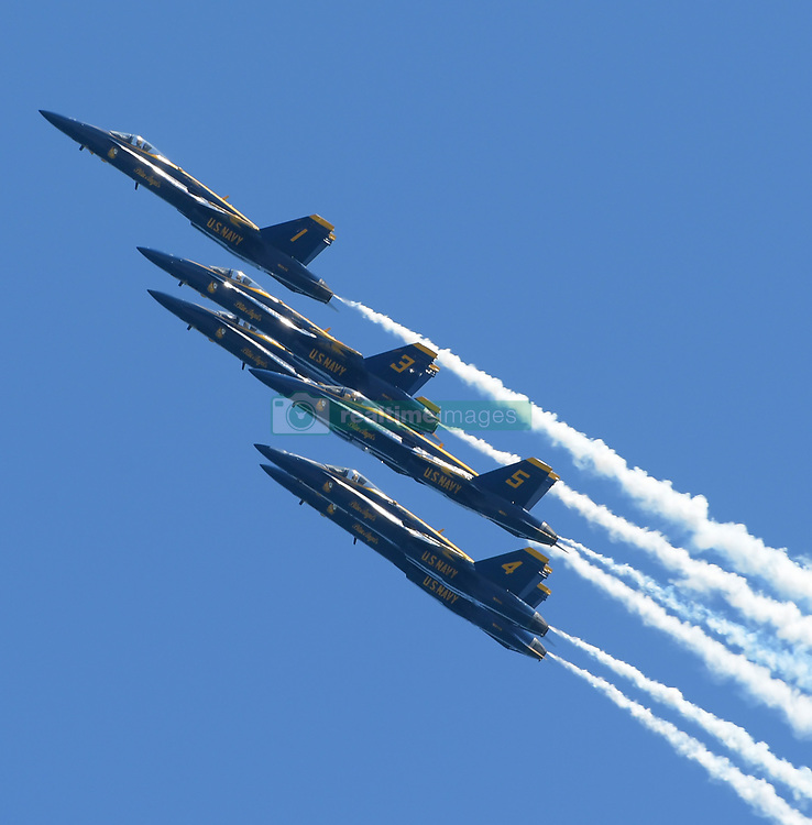 MAY 4, 2019 -Fort Lauderdale, florida, U.S. - U.S. Navy Blue Angels Team perform during Fort Lauderdale Air Show in Fort Lauderdale. (Credit Image: © SMG via ZUMA Wire)