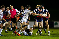 George Kloska of Bristol Bears 'A' is challenged by Dom Coetzer of Gloucester United - Rogan/JMP - 01/04/2019 - RUGBY UNION - Clifton Rugby Club - Bristol, England - Bristol Bears 'A' v Gloucester United.