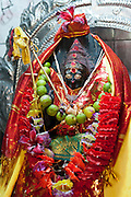 Shrine in the Kali Amman Kovil by the main road leading to Haputale..Wiharagala Estate.