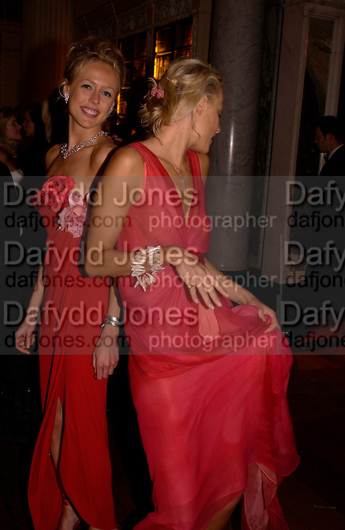 Lady Alexandra Spencer-Churchill and Kalita Al-Swadi, Ball at Blenheim Palace in aid of the Red Cross, Woodstock, 26 June 2004. SUPPLIED FOR ONE-TIME USE ONLY-DO NOT ARCHIVE. © Copyright Photograph by Dafydd Jones 66 Stockwell Park Rd. London SW9 0DA Tel 020 7733 0108 www.dafjones.com