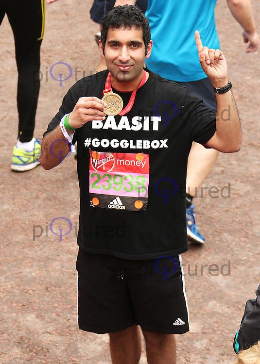 Baasit Siddiqui, Virgin Money London Marathon, London UK, 24 April 2016, Photo by Brett D. Cove