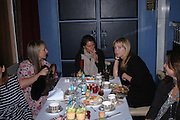 Anya Hindmarch, Lucy Tang and Kate Reardon. 'Pret-a-Portea'M.A.C. launches High Tea collection with British fashion designers. Berkeley Hotel. 17 January 2004. ONE TIME USE ONLY - DO NOT ARCHIVE  © Copyright Photograph by Dafydd Jones 66 Stockwell Park Rd. London SW9 0DA Tel 020 7733 0108 www.dafjones.com