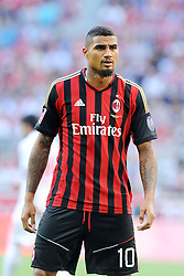 01.08.2013, Allianz Arena, Muenchen, Audi Cup 2013, FC Bayern Muenchen vs Manchester City, im Bild Audi Cup 2013 --- AC Mailand vs Sao Paulo --- Allianz Arena Muenchen, Spiel um Platz 3, 01.08.2013, Kevin-Prince BOATENG (AC Milan), Einzelbild, angeschnitten, angeschnittenes einzelmotiv, halbfigur, halbe Figur, quer, querformat, horizontal, landscape, Aktion, // during the Audi Cup 2013 match between FC Bayern Muenchen and Manchester City at the Allianz Arena, Munich, Germany on 2013/08/01. EXPA Pictures © 2013, PhotoCredit: EXPA/ Eibner/ Wolfgang Stuetzle<br /> <br /> ***** ATTENTION - OUT OF GER *****
