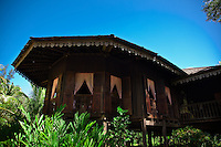 Traditional Malay  house at the Sarawak Cultural Village near Kuching.