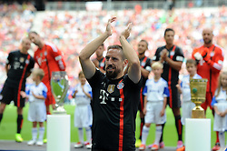 09.08.2014, Allianz Arena, Muenchen, GER, 1. FBL, FC Bayern Muenchen, Saisoneröffung, im Bild Franck Ribery (FC Bayern Muenchen) // during the saison opening of German 1st Bundesliga Club FC Bayern Munich at the Allianz Arena in Muenchen, Germany on 2014/08/09. EXPA Pictures © 2014, PhotoCredit: EXPA/ Eibner-Pressefoto/ Stuetzle<br /> <br /> *****ATTENTION - OUT of GER*****
