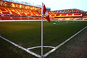 Corner flag ahead of the Sky Bet Championship match between Nottingham Forest and Preston North End at the City Ground, Nottingham, England on 8 March 2016. Photo by Jon Hobley.