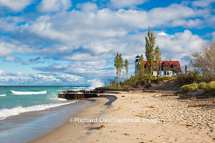 64795-00814 Point Betsie Lighthouse on Lake Michigan, Benzie County, Frankfort, MI