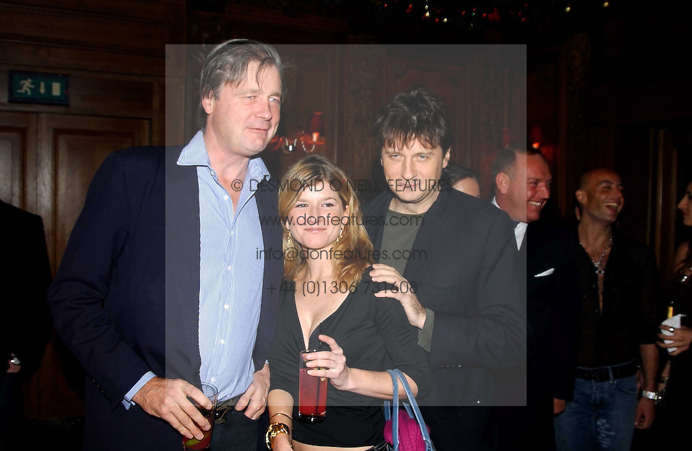Left to right, the MARQUESS OF WORCESTER, MISS NESTA FITZGERALD and LORD JOHNSTON SOMERSET at a party hosted by Tatler magazine to celebrate the publication of the 2004 Little Black Book held at Tramp, 38 Jermyn Street, London SW1 on 10th November 2004.<br /><br />NON EXCLUSIVE - WORLD RIGHTS