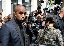 "File photo of Kim Kardashian, Kanye West, their baby baby North and Kris Jenner are spotted leaving their apartment in Paris, France on May 23, 2314. Kim Kardashian West spoke out about Kanye West's bipolar disorder Wednesday, three days after the rapper delivered a lengthy monologue at a campaign event touching on topics from abortion to Harriet Tubman, and after he said he has been trying to divorce her.Kardashian West said in a statement posted in an Instagram Story that she has never spoken publicly about how West's bipolar disorder has affected their family because she is very protective of their children and her husband's ""right to privacy when it comes to his health."" Photo by ABACAPRESS.COM"