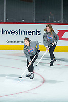 REGINA, SK - MAY 20: The Ice Girls at the Brandt Centre on May 20, 2018 in Regina, Canada. (Photo by Marissa Baecker/CHL Images)
