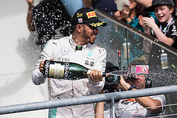 October 23, 2016: Lewis Hamilton #44 with Mercedes AMG Petronas Formula One Team celebrates his win at the United States Grand Prix, Circuit of the Americas. Austin, TX. Mario Cantu/CSM (Credit Image: © Mario Cantu/Cal Sport Media)