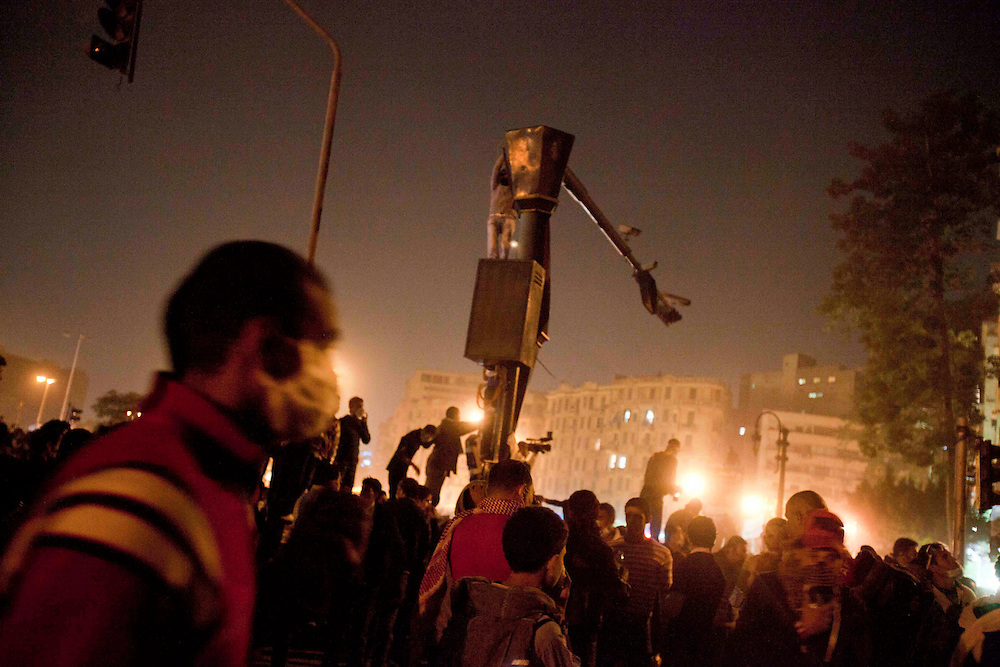 demostrators gather in Tahrir Square on November 23, 2011 photo by: Maya Levin
