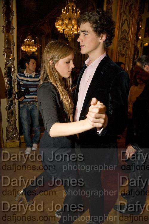 VIOLET HESKETH; ARTHUR GUINNESS,  Drinks the evening before the The 2008 Crillon Debutante Ball. Baccarat. Place des Etats-Unis.  Paris. 29 November 2008. *** Local Caption *** -DO NOT ARCHIVE-© Copyright Photograph by Dafydd Jones. 248 Clapham Rd. London SW9 0PZ. Tel 0207 820 0771. www.dafjones.com.