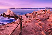 Sunset at Pinnacle Cove, Point Lobos State Reserve, Carmel, California USA
