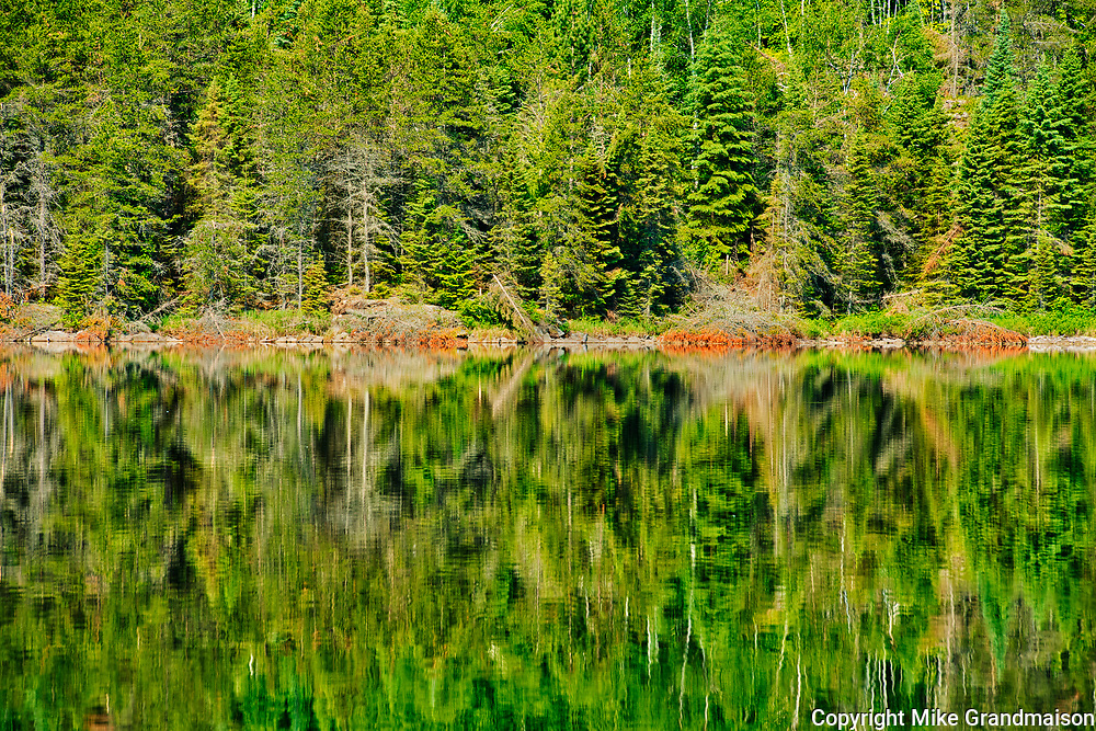 Blindfold Lake reflection<br />Kenora DIstrict<br />Ontario<br />Canada