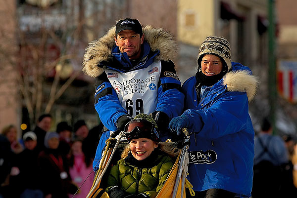 04 March 2006: Anchorage, Alaska - Hans Gatt (68) at the Ceremonial Start in downtown Anchorage of the 2006 Iditarod Sled Dog Race