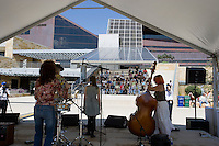 The Kat's Meow Plays at City Hall 3/15/07 during SXSW to kick off Live From the Plaza series. Singer Kat Edmonson and Slim Richie Guitar.