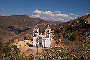 A huge church is seen from the top of a hill in Juanacatlán, Guerrero on April 16th, 2010.  (Photo: Prometeo Lucero)