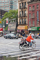 street scene near china town in New York City October 2008