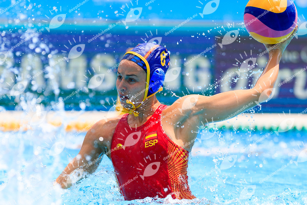 Jelena Lloret Gomez of Spain<br /> New Zealand (White cap) vs Spain (Blue Cap) Water Polo - Preliminary round<br /> Day 03 16/07/2017 <br /> XVII FINA World Championships Aquatics<br /> Alfred Hajos Complex Margaret Island  <br /> Budapest Hungary July 15th - 30th 2017 <br /> Photo @Marcelterbals/Deepbluemedia/Insidefoto