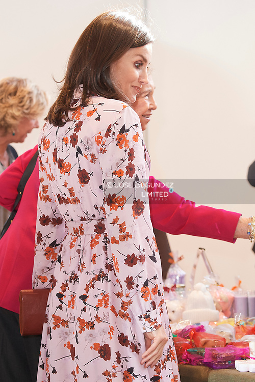 Queen Letizia of Spain attend 'Rastrillo Nuevo Futuro' on November 19, 2019 in Madrid, Spain