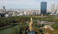 Utsikt fra slottet i Osaka, view from oskak castle