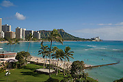 Waikiki Beach, Diamond Head, Oahu, Hawaii
