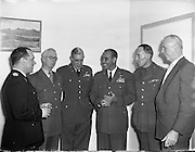 Brigadier Thickness - British Military Attache at Santry Stadium .26/05/1958 .