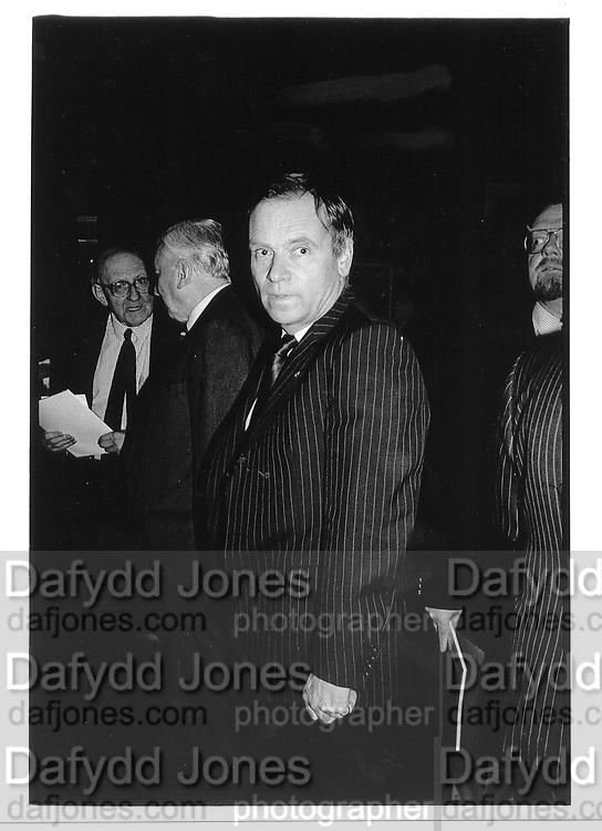 Jeffrey Archer 1992. © Copyright Photograph by Dafydd Jones 66 Stockwell Park Rd. London SW9 0DA Tel 020 7733 0108 www.dafjones.com