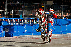 13.03.2016, Assen, BEL, FIM Eisspeedway Gladiators, Assen, im Bild Dimitry Khomitsevich (RUS) // during the Astana Expo FIM Ice Speedway Gladiators World Championship in Assen, Belgium on 2016/03/13. EXPA Pictures &copy; 2016, PhotoCredit: EXPA/ Eibner-Pressefoto/ Stiefel<br /> <br /> *****ATTENTION - OUT of GER*****